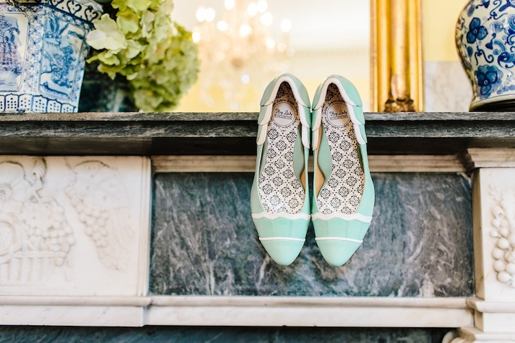 Bride's shoes from BHLDN. Image by Carolina Photosmith.