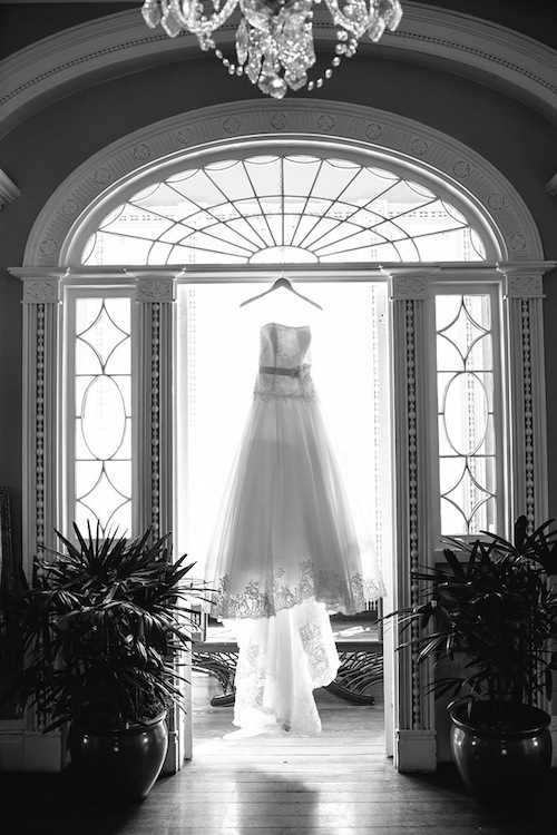 Bride's gown by Annasul Y. Image by Carolina Photosmith.