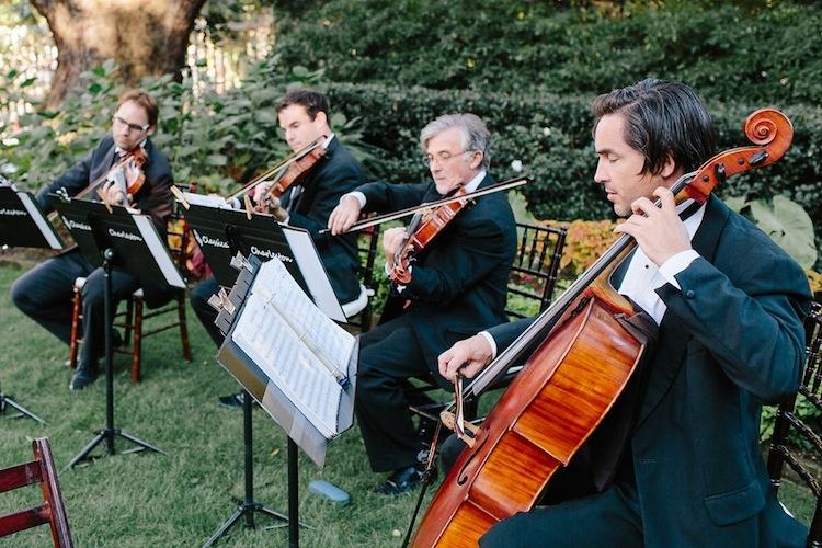 Ceremony music by Classical Charleston. Image by Carolina Photosmith.