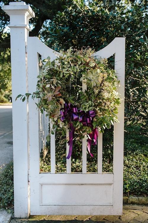 Wreath by Loluma. Image by Carolina Photosmith at the Governor Thomas Bennett House.
