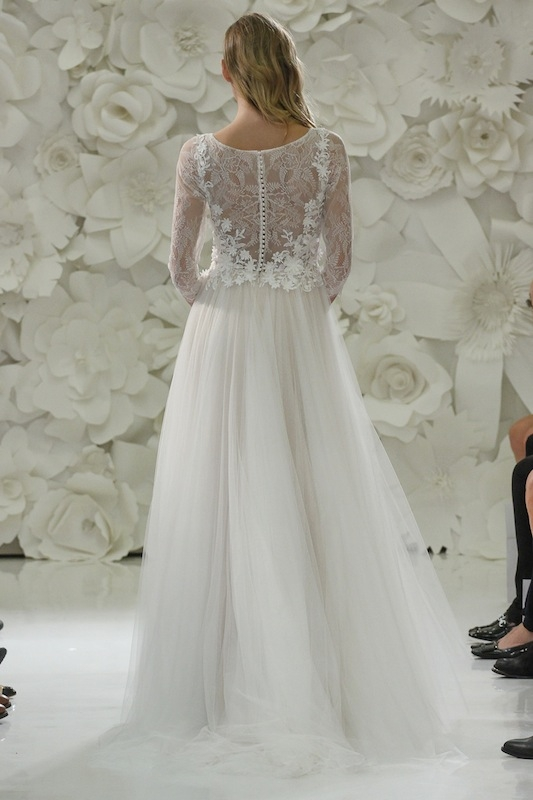 """Love Marley by Watters' """"Amelie"""" (style 54719). Available in Charleston through Jean's Bridal and White on Daniel Island."""