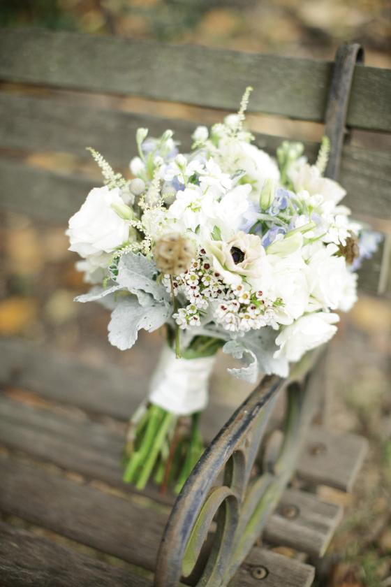 WHAT A HANDFUL: Summerville's On a Limb Floral Designs made the bridal bouquet.