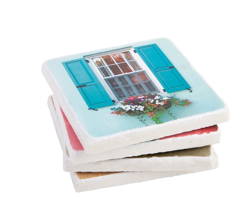 WINDOW GAZING: Carolina Coaster Company's flower-box coasters