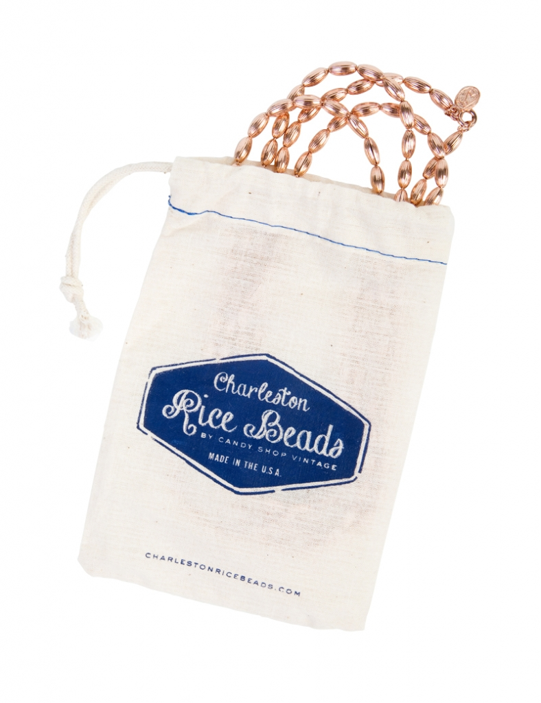 RICE TOSS: Candy Shop Vintage's Charleston Rice Beads necklace