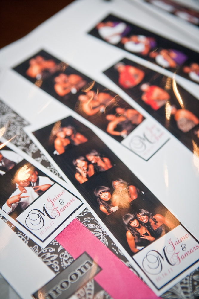 "CAPTURE EVERY MOMENT: Guests hammed it up in the Shutterbooth and four-photo reels were given as personalized favors. ""Six months later our guests are still talking about it,"" says Jaime."