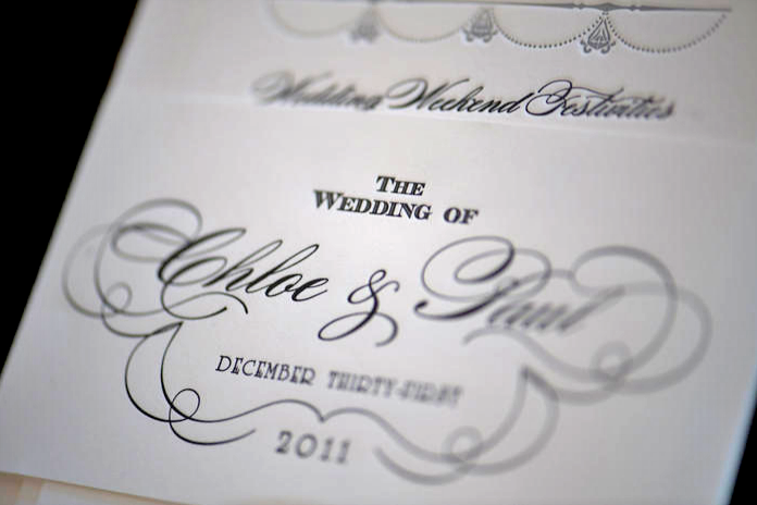 IT IS WRITTEN: A font inspired by one from the 1937 film Topper appeared on the stationery by Sixpence Press.