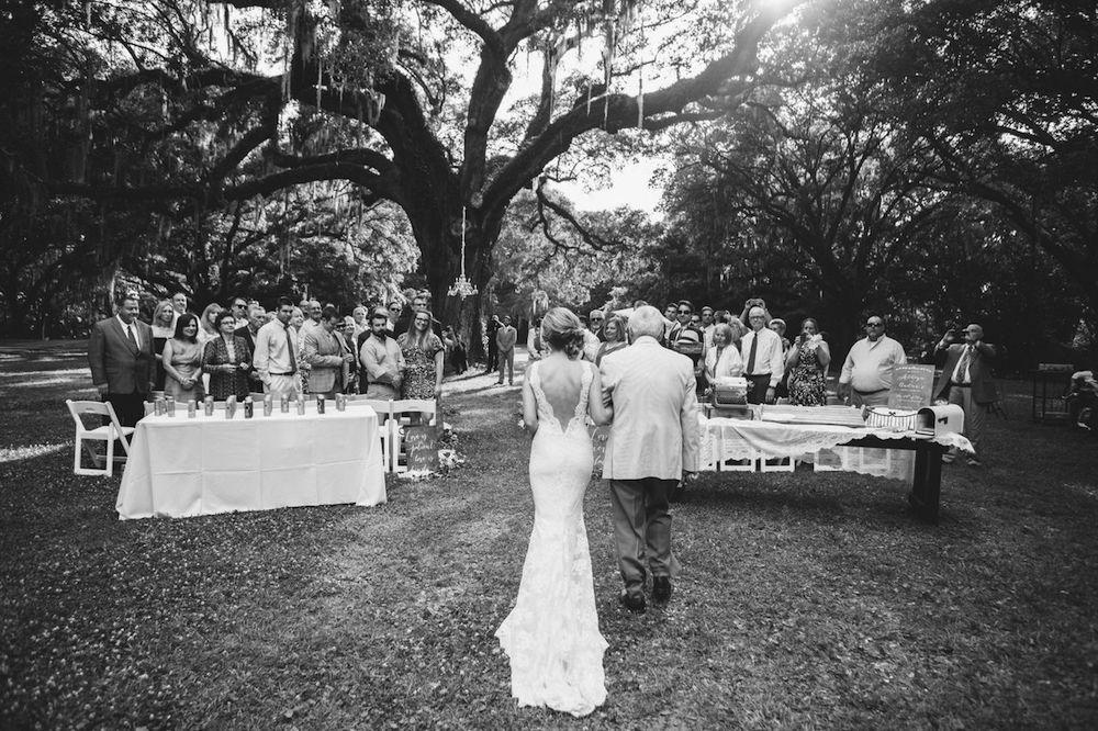 Bride's gown by Marisa Bridals. Photograph by Juliet Elizabeth at the Legare Waring House.