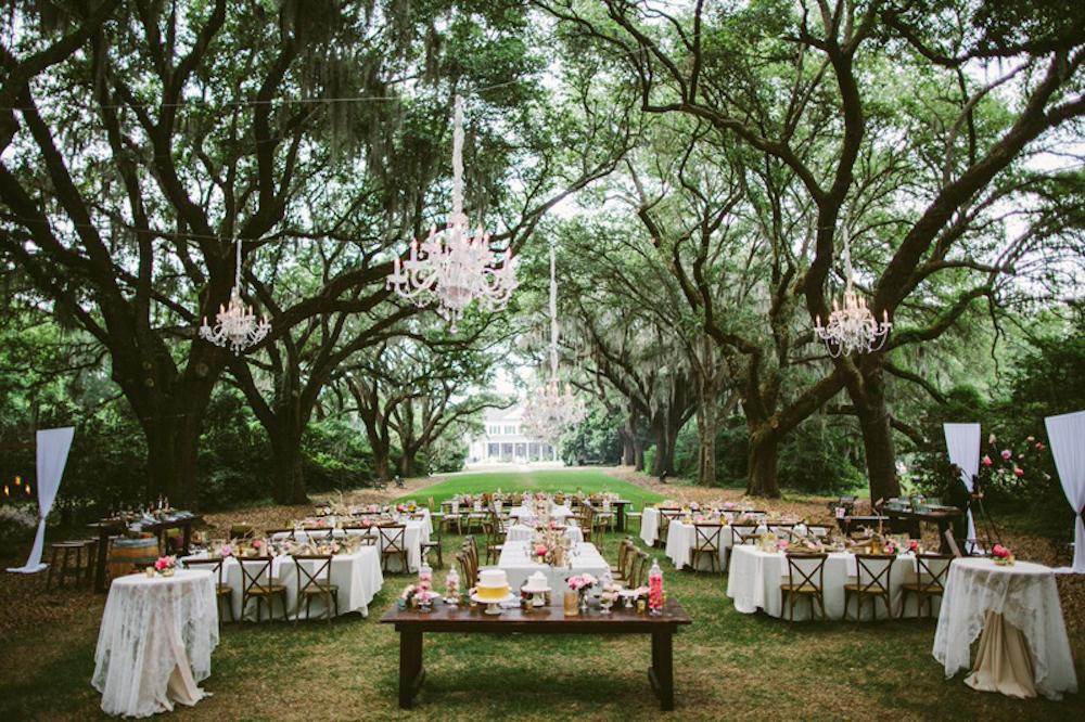 Wedding design by Paper and Pine Co. Day-of coordination by Cafe Catering. Cakes by DeClare Cakes. Florals by Branch Design Studio. Chairs by from Snyder Events. Tables, lighting, and linens from EventHaus. Photograph by Juliet Elizabeth at the Legare Waring House.