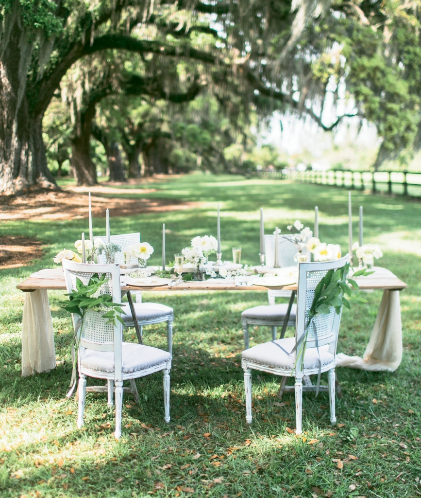 BORROW A NATURAL CANOPY: Spare your guests, food, cakes, candles, and flowers a case of the meltdowns when you plot tables to take advantage of shady spots.