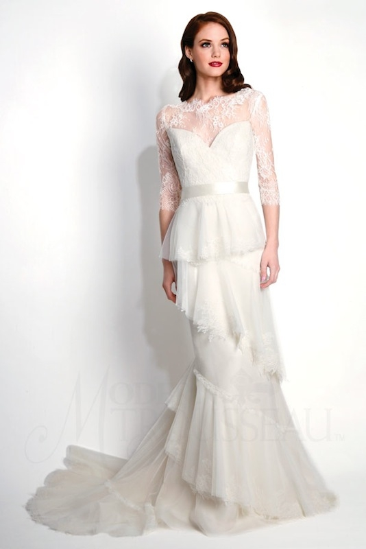 "Modern Trousseau's ""Raven."" Available in Charleston through Modern Trousseau."