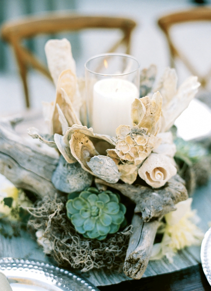 """They were so beautiful,"" says Michelle, mother of the groom, of the centerpieces, ""that I kept one and gave the remaining ones to Maddy, her mother, Audrey, and a few of the Rohde's neighbors who had graciously opened their homes to some of our guests."""