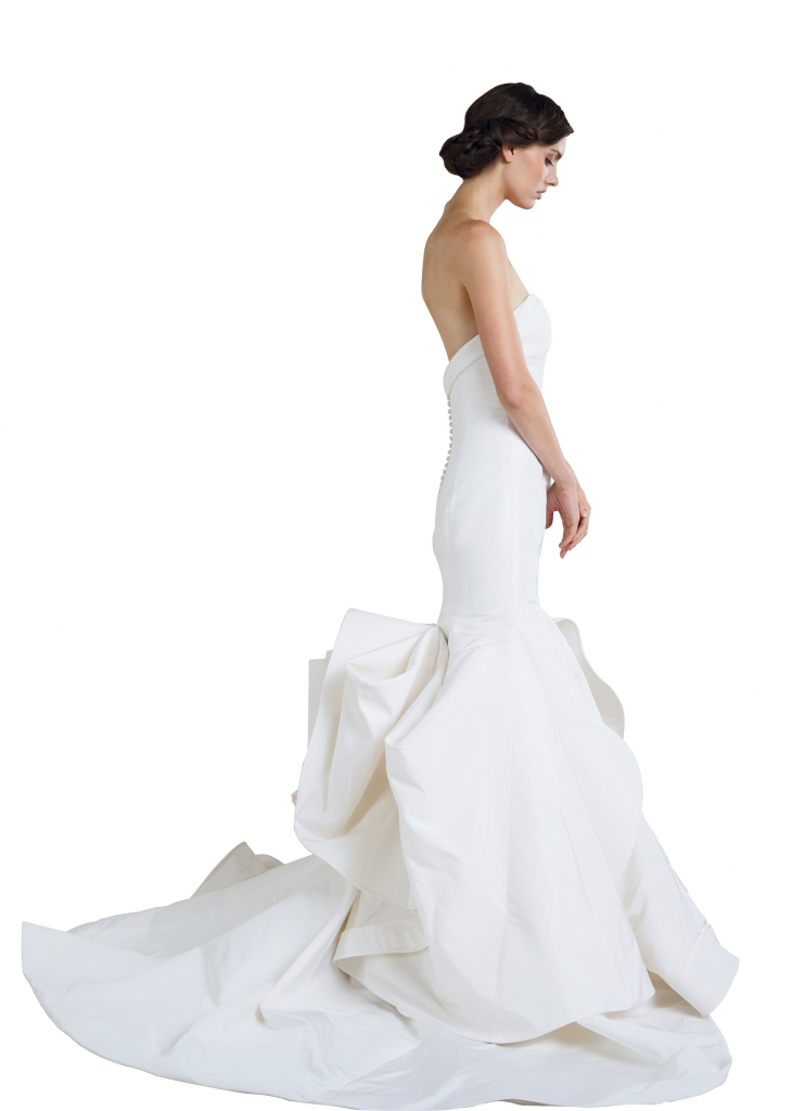 "{Timeless Trend} Bustle; gown: ""Artemis"" by Sareh Nouri; Maddison Row"