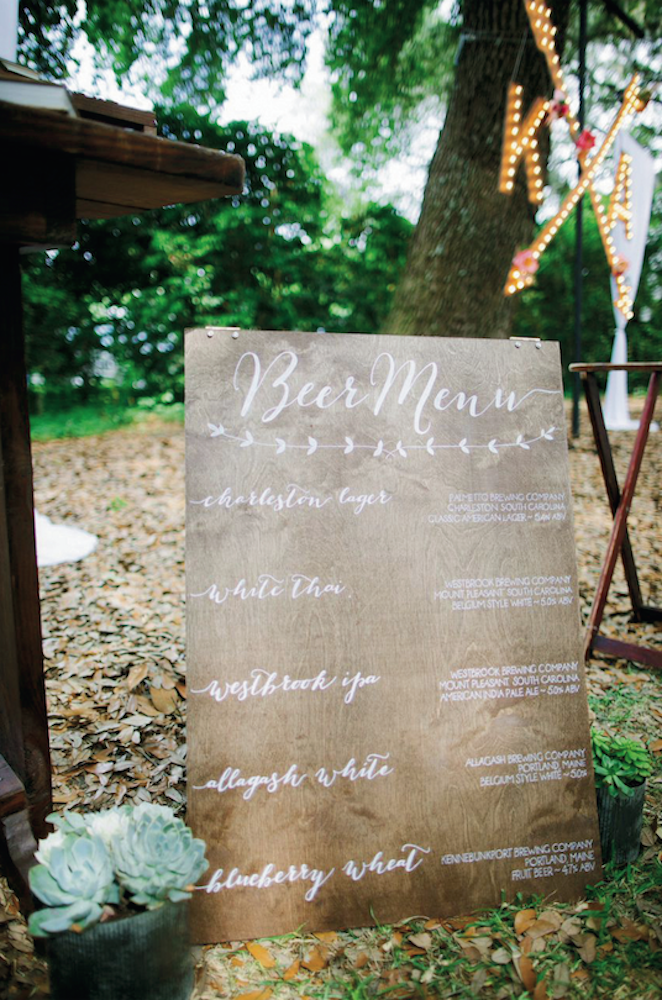 Wedding design and signage by Paper and Pine Co. Photograph by Juliet Elizabeth.