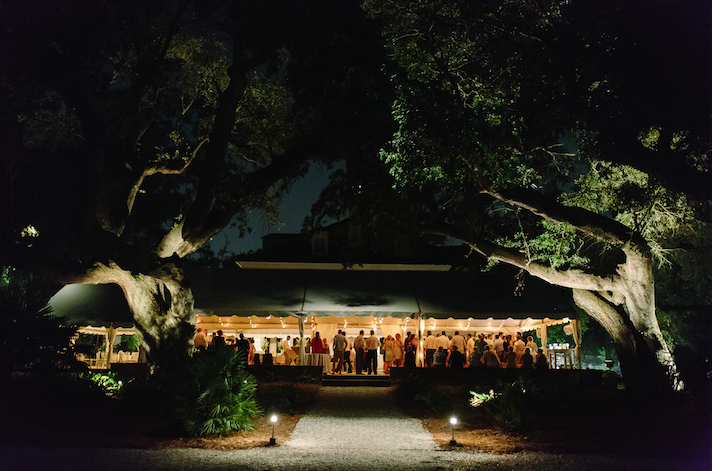 Tent by Snyder Events. Image by Clay Austin Photography at Lowndes Grove Plantation.