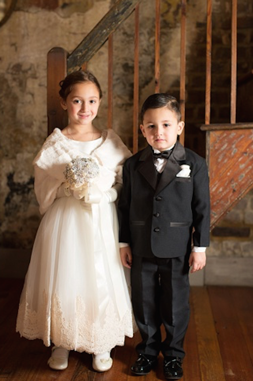 31. Vanessa Langer and Josh Denney's flower girl and ring bearer. Image at The WIlliam Aiken House by Alice Keeney.