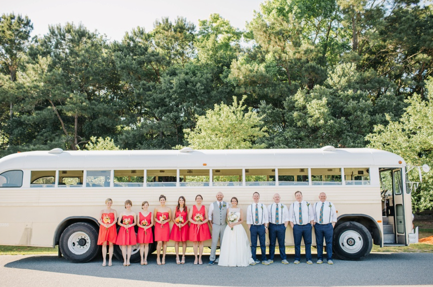 Travel in Style: A vintage bus was as pic-turesque (hello, photo op!) as it was practical.