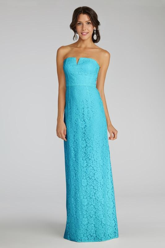 """Donna Morgan's """"Reese"""" in Something Blue. Available in Charleston through Bella Bridesmaids."""