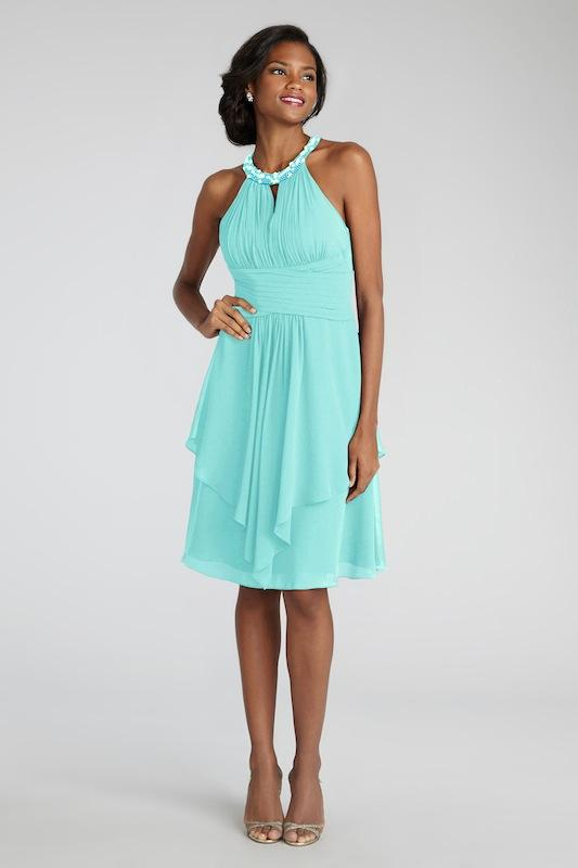 """Donna Morgan's """"Sophie"""" in Spearmint. Available in Charleston through Bella Bridesmaids."""