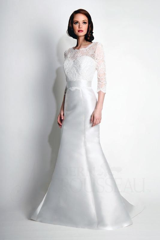 "Modern Trousseau's ""Spencer."" Available in Charleston through Modern Trousseau."