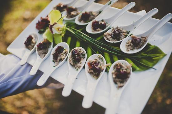 "EAT FRESH: ""We wanted to show people how amazing local, organic cuisine truly is and Fred did a perfect job!"" says Katharine of Fat Hen Catering and the menu. Treats like a delicious duck confit topped with cranberries certainly did the trick."