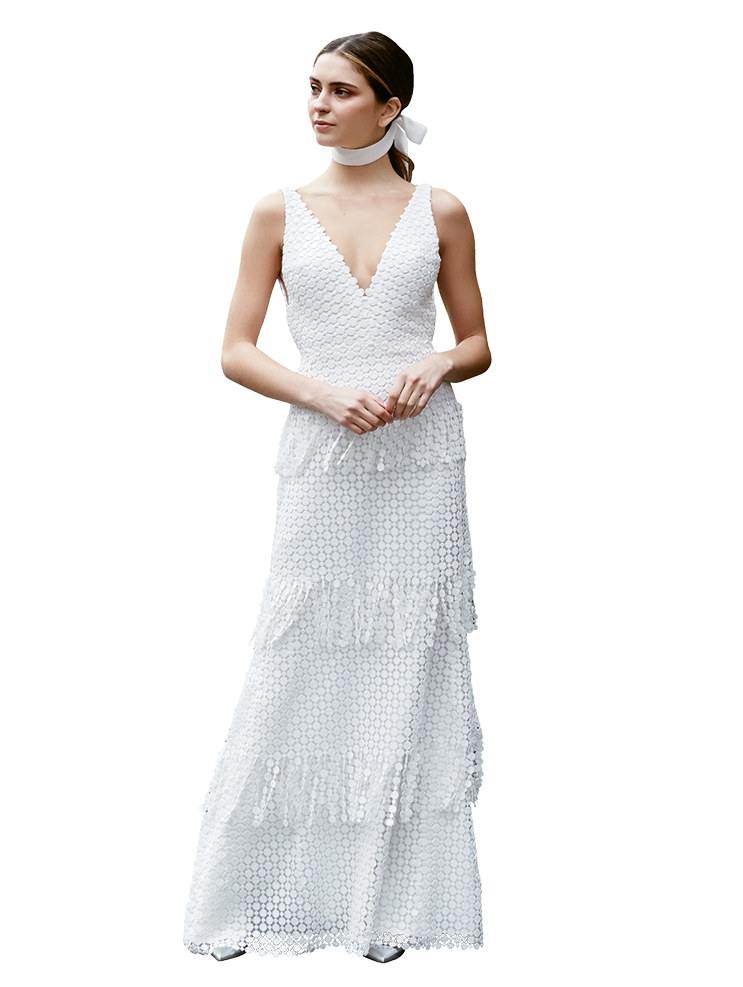 "Tiered Layers - Gown: ""The Rutledge"" by Lela Rose  Boutique: Available locally through Maddison Row"
