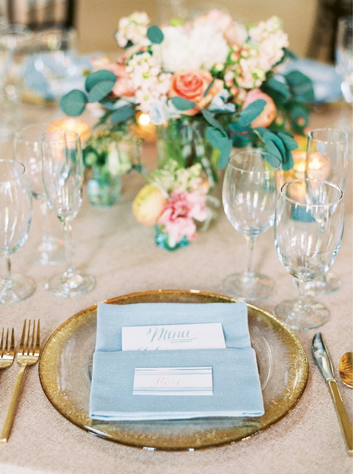 Image by Perry Vaile Photography. Florals by Rebecca Rose Events. Flatware by EventWorks.