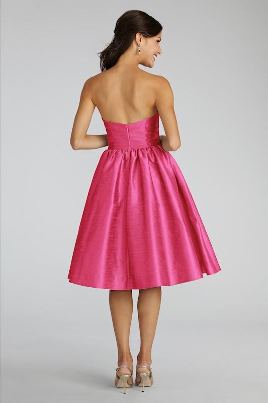 "Donna Morgan's ""Georgina"" in French Pink. Available in Charleston through Bella Bridesmaids."