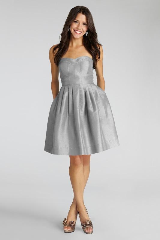 "Donna Morgan's ""Madison"" in Graphite. Available in Charleston through Bella Bridesmaids."