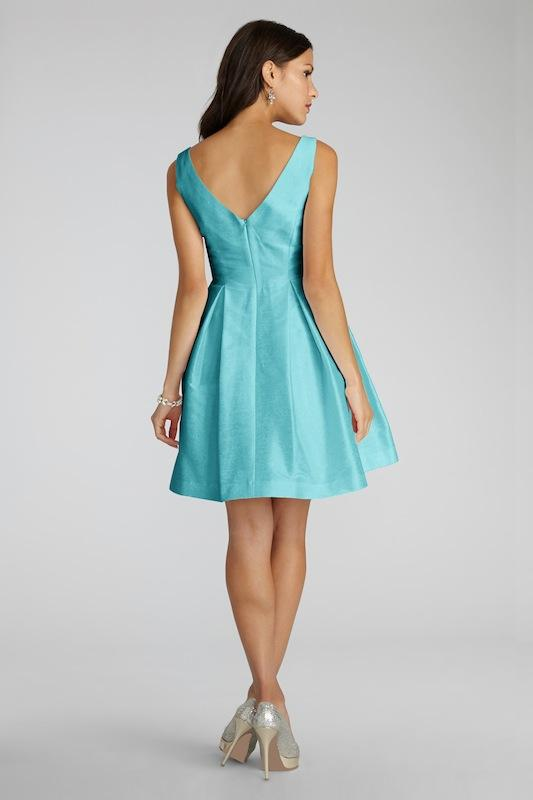 """Donna Morgan's """"Ruby"""" in Turquoise. Available in Charleston through Bella Bridesmaids."""