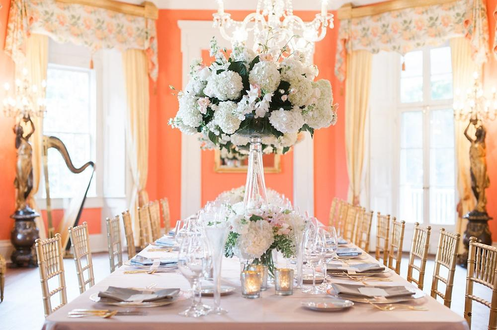 Event and floral design by Gathering Floral + Event Design. Photograph by Marni Rothschild Pictures at the William Aiken House.