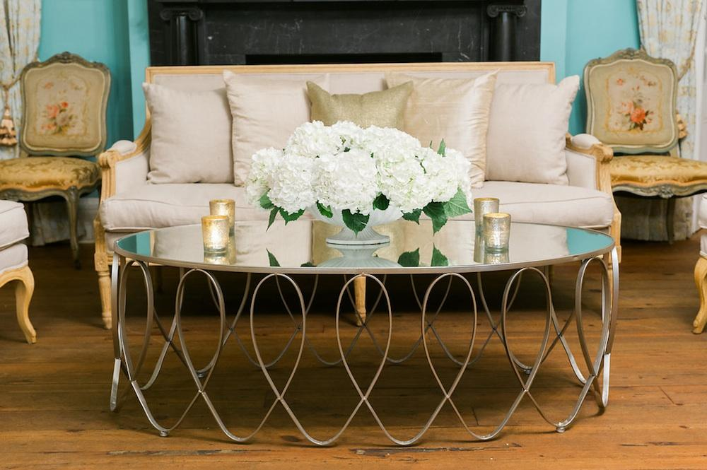 Specialty décor and florals by Gathering Floral + Event Design. Photograph by Marni Rothschild Pictures at the William Aiken House.