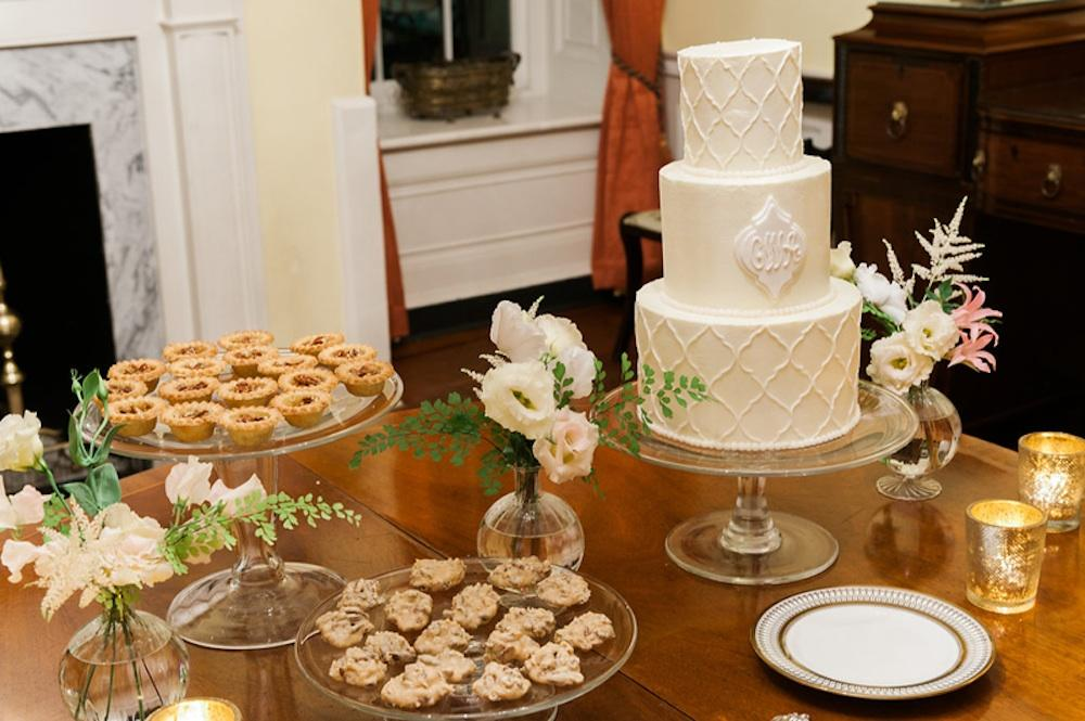 Catering and cake by Patrick Properties Hospitality Group. Photograph by Marni Rothschild Pictures.