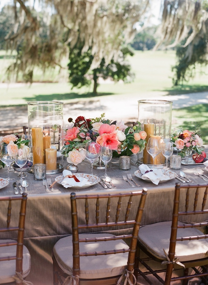 Wedding design by Easton Events. Florals by Charleston Stems. Image by Corbin Gurkin Photography at Yeamans Hall Club.