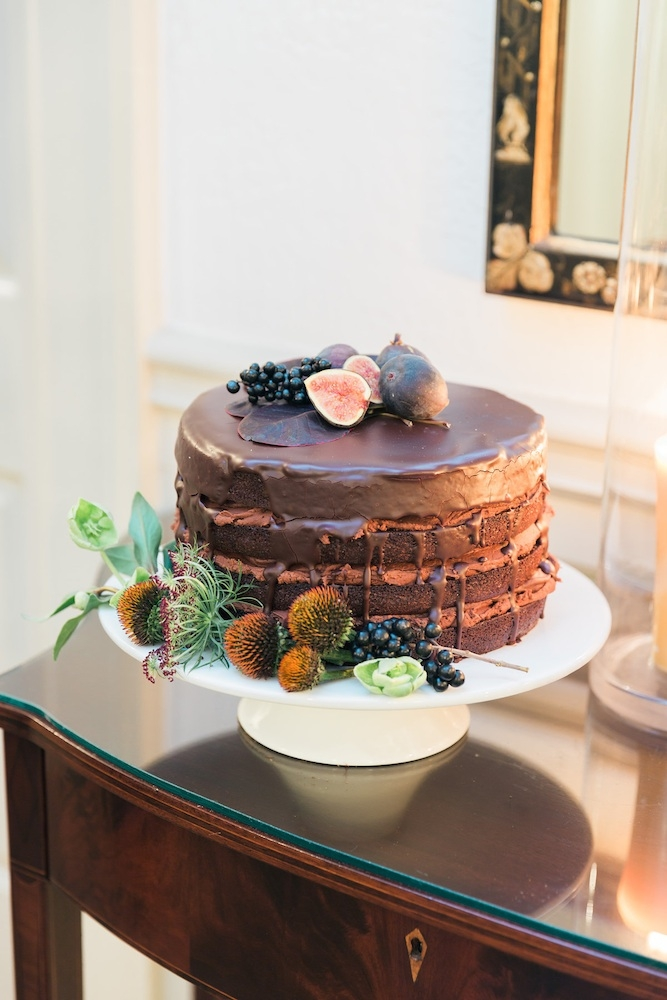 Cake by WildFlour Pastry. Image by Corbin Gurkin Photography at Yeamans Hall Club.