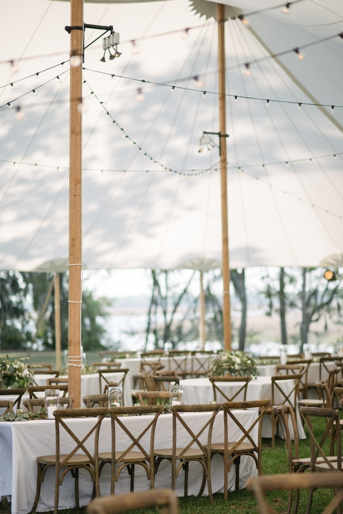 Wedding design by Katherine Weaver. Day-of coordination by RLE Charleston. Rentals from Snyder Events. Lighting by Technical Event Company. Florals by Sara York Grimshaw Designs. Photograph by Sean Money + Elizabeth Fay.