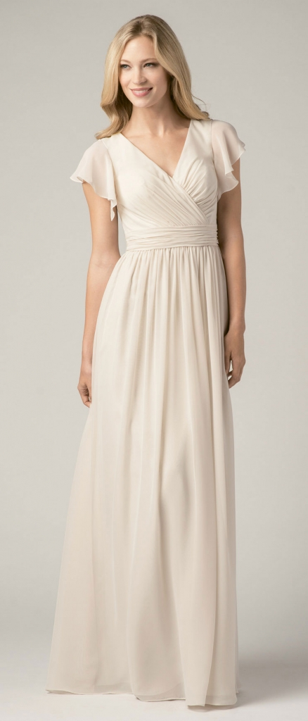 {Timeless Trend} Sweet Sleeves; gown: style 812 by Wtoo by Watters Bridesmaids; Bella Bridesmaids