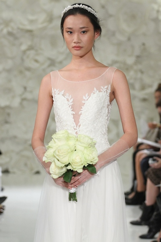 """Watters' """"Lalai"""" (style 7083B). Available in Charleston through Jean's Bridal and White on Daniel Island."""