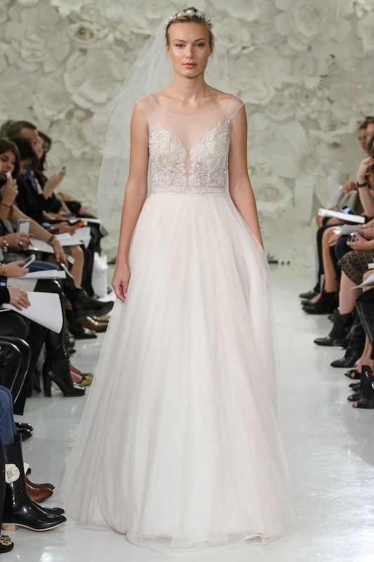 """Watters' """"Kaliah"""" (style 7082B). Available in Charleston through Jean's Bridal and White on Daniel Island."""