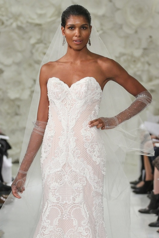 """Watters' """"Vida"""" (style 7041B). Available in Charleston through Jean's Bridal and White on Daniel Island."""