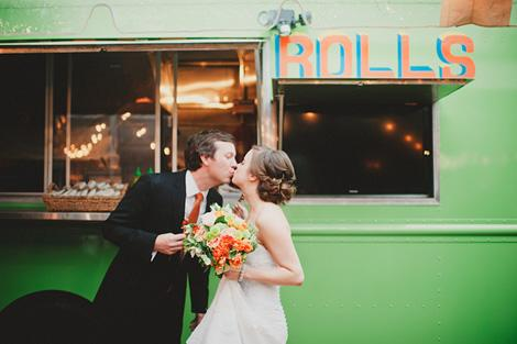 ROLL ON: In addition to a caterer, food truck Roti Rolls offered treats for the couple and their guests.