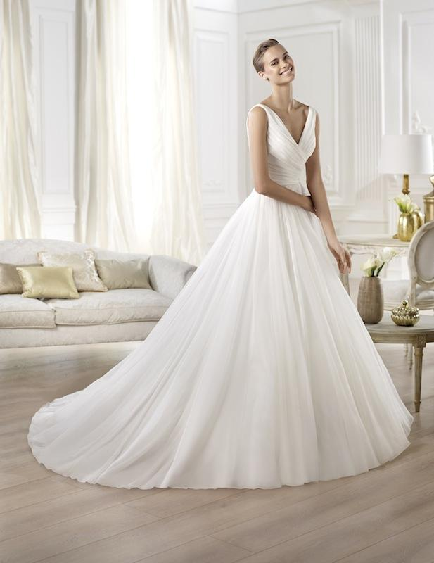 "Pronovias' ""Yesel."" Available in Charleston through Gown Boutique of Charleston."