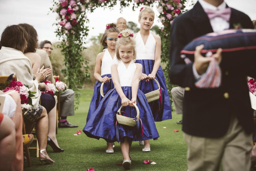 MINI MAIDS: Shannon and Joe's nieces wore Angela Plank dresses from the Etsy shop Best Little Dress.