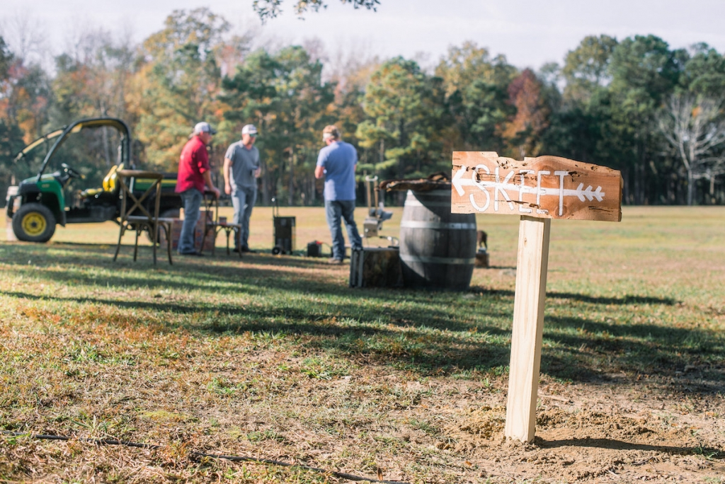 The family skeet shoots on the property regularly, so it was an easy pick for entertainment. (Photo by Tim Will)
