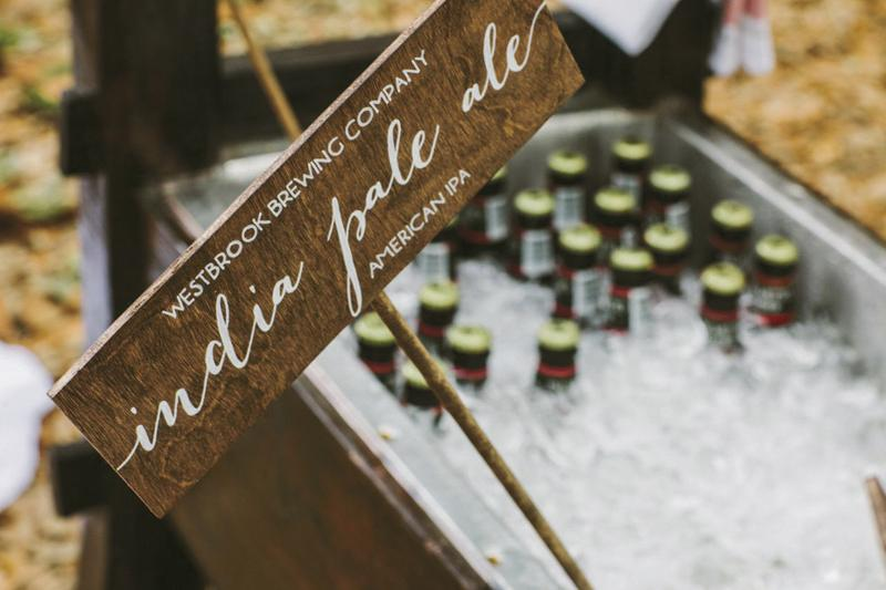 Wedding design and signage by Paper and Pine Co. Bar service by Cafe Catering. Photograph by Juliet Elizabeth.