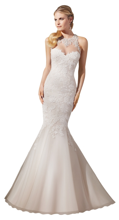 Gown: Style 2723 by Mori Lee; Trend: embellished halter neckline; Shop: Bridals by Jodi and Jean's Bridal
