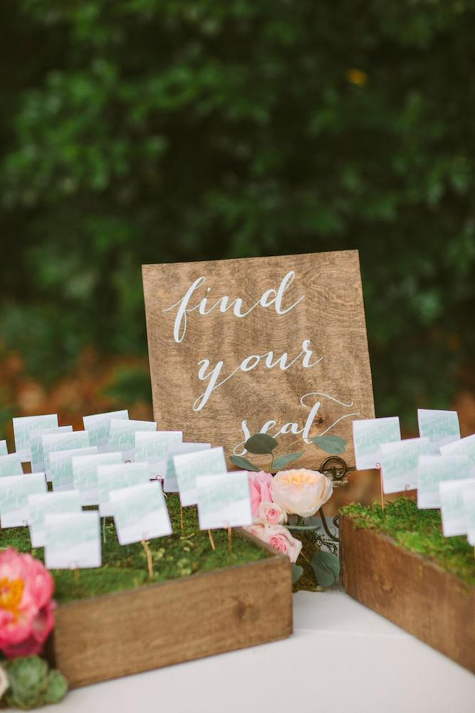 Wedding design and signage by Paper and Pine Co. Day-of coordination by Cafe Catering. Florals by Branch Design Studio. Photograph by Juliet Elizabeth.