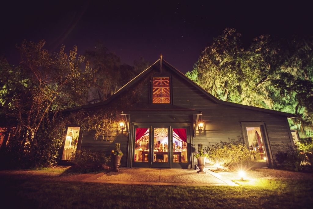 SAFE HAVEN: The Carriage House at Magnolia Plantation beckoned as a retreat from the evening's chill.