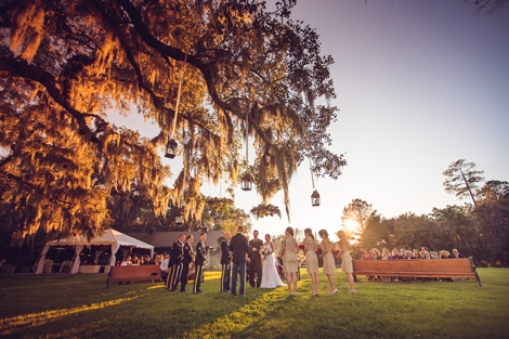 CEREMONIAL SPOT: Engaging Events planned the ceremony to coincide with the setting sun.