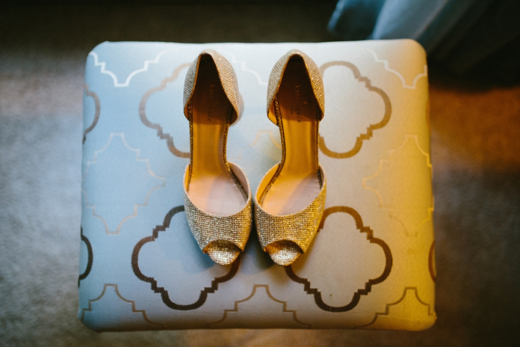 Bride's shoes by Kate Spade. Image by Clay Austin Photography.