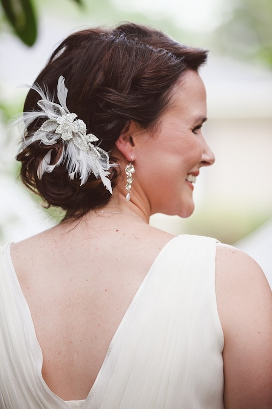 Hair by Linda Pearson of Salon 120 & Day Spa. Hair comb by Swoon. Earrings by Filigree. Image by Amelia + Dan Photography.